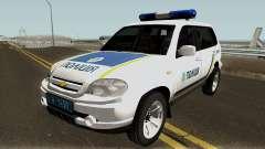 Chevrolet Niva GLC 2009 Ukraine Police White for GTA San Andreas