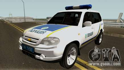 Chevrolet Niva GLC 2009 Ukraine Police White for GTA San Andreas