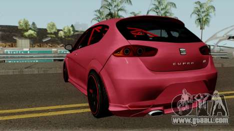 Seat Leon Cupra R for GTA San Andreas back left view