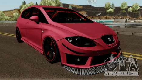 Seat Leon Cupra R for GTA San Andreas inner view