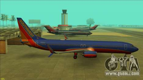 Southwest Airlines 737-800 for GTA San Andreas