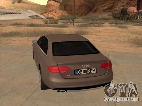 Audi S4 B8 for GTA San Andreas