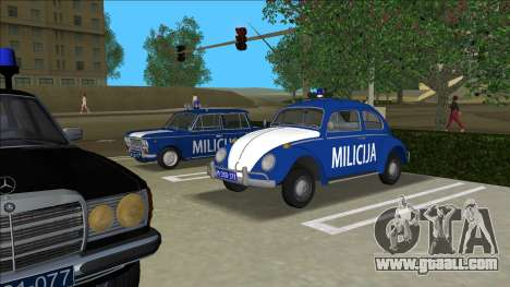 Volkswagen Beetle SFR Yugoslav Milicija (police) for GTA Vice City