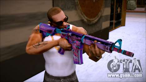 M4A4 NEON RIDER II for GTA San Andreas