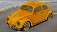 Volkswagen Beetle 1966 Yellow for GTA San Andreas