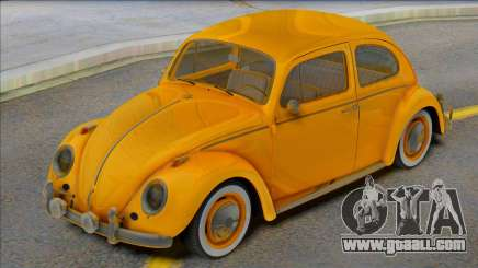 Volkswagen Beetle 1966 Yellow for GTA San Andreas