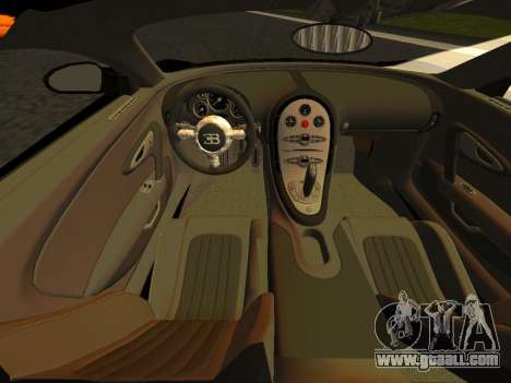 Bugatti Veyron 16.4 Black Gold Carbon [beta] for GTA San Andreas