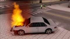 Peds Afraid of the Burning Car for GTA San Andreas