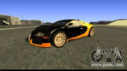 Bugatti Veyron 16.4 Black Gold Carbon [beta] for GTA San Andreas