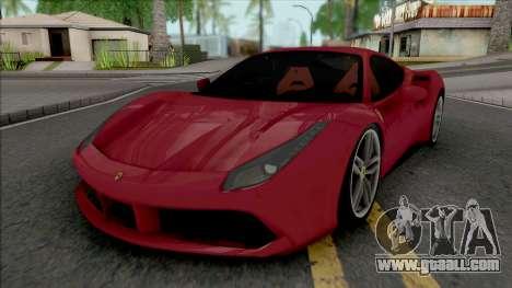 Ferrari 488 GTB Red for GTA San Andreas