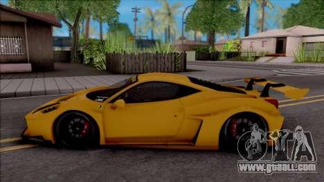 Ferrari 458 Liberty Walk Silhouette GT for GTA San Andreas