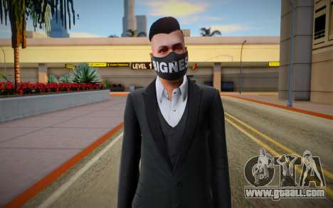Gta Online Skin With Bigness Mask for GTA San Andreas