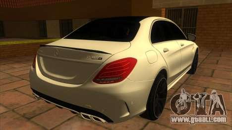 Mercedes-Benz C63S V8 AMG for GTA San Andreas