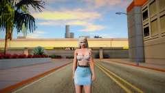 Rachel v7 Blue Skirt for GTA San Andreas