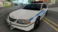 Chevrolet Impala 2003 NYPD (512x512 Texture) for GTA San Andreas