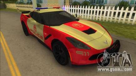 Corvette C7 Police for GTA Vice City