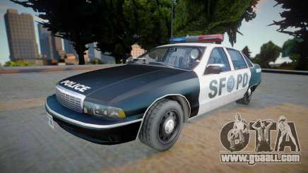 Chevrolet Caprice 1992 (SFPD) - Improved for GTA San Andreas