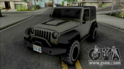 Jeep Wrangler Improved for GTA San Andreas