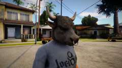 GTA V Bull Mask For CJ for GTA San Andreas