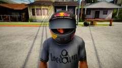 Racing Helmet Red Bull for GTA San Andreas