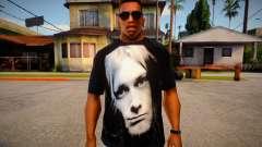 Kurt Cobain T-Shirt for GTA San Andreas