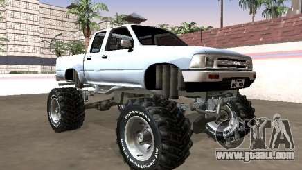 Toyota Hilux 1990 Pickup Monster for GTA San Andreas