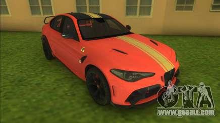 Alfa Romeo Giulia GTAm for GTA Vice City