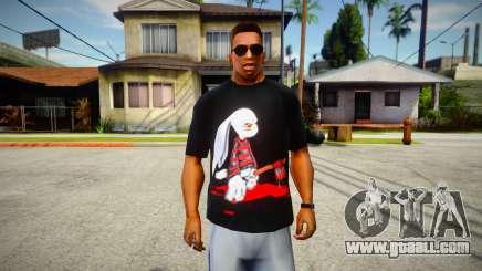 Evil Serial Killer Bunny T-Shirt for GTA San Andreas