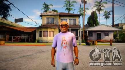 Camisa Asuna Love (SAO) for GTA San Andreas