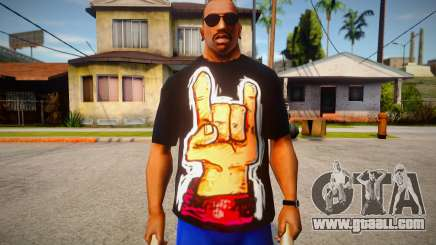 Rock Hand Black T-Shirt for GTA San Andreas