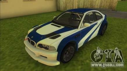 BMW M3 GTR for GTA Vice City