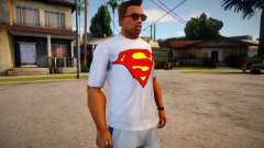 T-shirt Superman (good textures) for GTA San Andreas