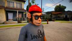 Free Fire Monkey Mask For Cj for GTA San Andreas
