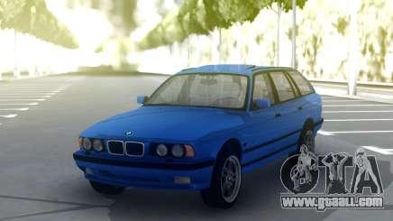 BMW M5 E34 Wagon Blue for GTA San Andreas