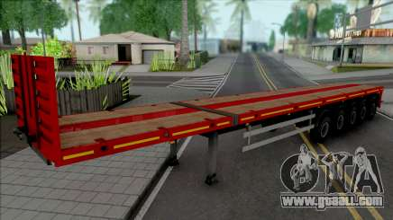 Trailer Flatbed 5 Axles for GTA San Andreas