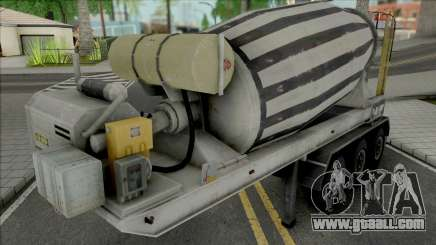 Cement Mixer Trailer for GTA San Andreas