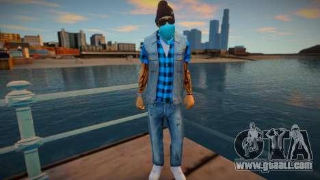 Street thug jeans vest for GTA San Andreas