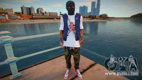 Masked bandit (good skin) for GTA San Andreas