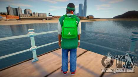 New fam3 backpack for GTA San Andreas