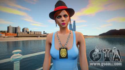 Girl cop in the style of GTA 5 for GTA San Andreas