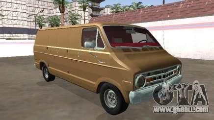 Dodge Tradesman 200 1972 Van Long Chassis for GTA San Andreas