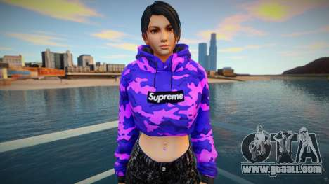 DOA Momiji Fashion Casual V2 Crop Hoodie for GTA San Andreas