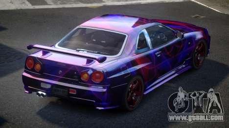Nissan Skyline R34 PSI-U S5 for GTA 4