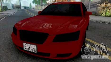 Hyundai Sonata Red Black for GTA San Andreas