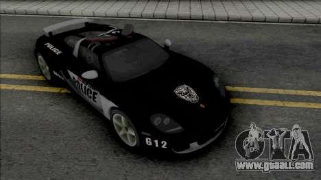 Porsche Carrera GT 2004 Police for GTA San Andreas
