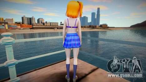 Kousaka Honoka - Love Live - shirtless v1 for GTA San Andreas