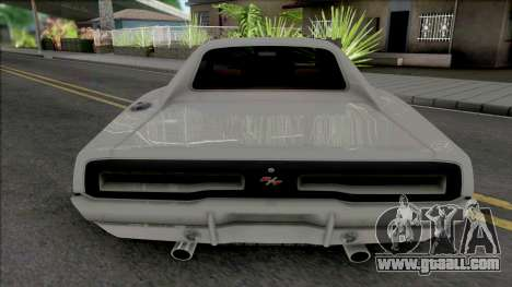 Dodge Charger RT 1969 White for GTA San Andreas