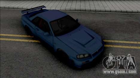 Nissan Skyline GT-R 2002 for GTA San Andreas