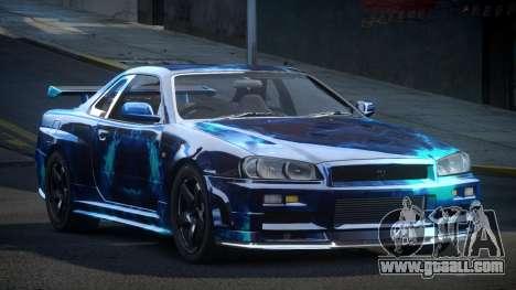 Nissan Skyline R34 PSI-U S8 for GTA 4