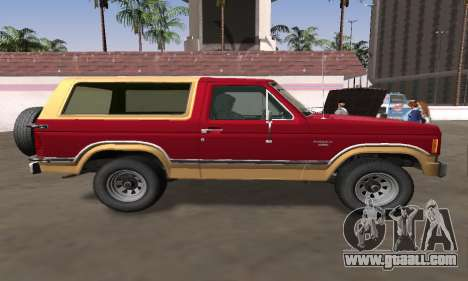 1982 Ford Bronco XLT for GTA San Andreas